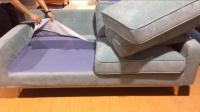 舒乎家具沙发S2 蓝色三人北欧沙发日式沙发北欧家具出3D效果图