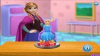 ★冰雪奇缘电影中文版免费★安娜制作冰雪蛋糕.怀孕艾莎做煎饼