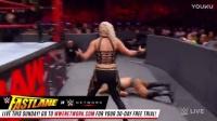 RAW 2017 wwe 莎夏剪刀腿 贝莉抱摔 不敌奈亚的毁灭