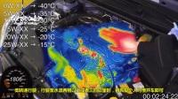 热成像摄像机告诉你, 发动机冷启动需要多久才能到达工作温度