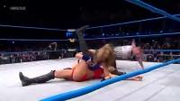 TNA美女组队大战,掐住对手脖子把人吊起来,赢比赛