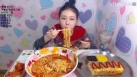 韩国女主播弗朗西斯卡大胃王吃播(大碗方便面)直播间2017.3.13