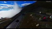 无人机飞友航拍西藏车队和西藏骑行