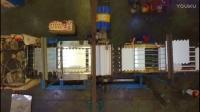 无人机飞友航拍工厂和工厂内部车间