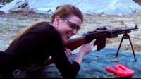 身材完美的美女射击勃朗宁自动步枪_标清