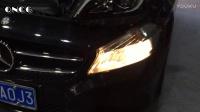 奔驰A200高配全LED车灯,卤素灯改装升级LED带日行灯大灯