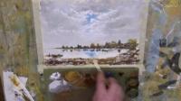 油画欣赏The Colour of Winter - Time Lapse Painting