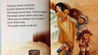 美语故事绘本白雪公主和七个小矮人(中英文版本)