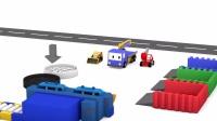 早教_儿童_幼儿卡通_动画片_和迷你卡车学习颜色_洗车