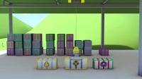 最新早教儿童卡通_幼儿教育动画片_火车特洛伊和赛车在汽车城