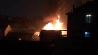 杭州解放路长江照相馆着火了