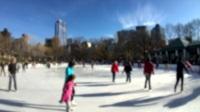 1124滑冰 中央公园 纽约城  冬天 运动 乐趣  休闲 溜冰场 活动  娱乐