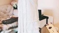 【爱家名品】Maje白色拼红色渔网连衣裙