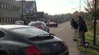 浓烟滚滚 街拍多辆性能车街头秀加速