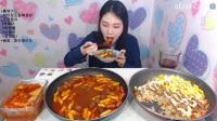 韩国女主播弗朗西斯卡大胃王吃播大挑战(法式奶