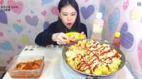 韩国女主播弗朗西斯卡大胃王吃播大挑战(200个鹌