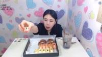 韩国女主播弗朗西斯卡大胃王吃播大挑战(煎蛋饼