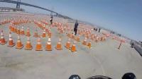 警校学员考摩托车驾照,三秒后才是霸气的开始
