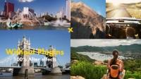 快节奏青春时尚户外风景旅行多画面分割图片照片文字展示 AE模板