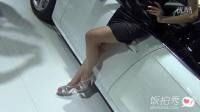 饭拍车展中的美女车模_超清