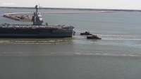 New $13B Aircraft Carrier USS Gerald R. Ford Moves On Own Power