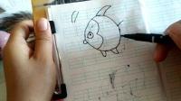 幼儿简笔画,鱼