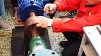 直尺法测量离心泵机组同心度