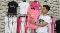 品牌服装批发108期:韩版夏装女款短袖T恤批发 弹性较大 100/份1100包邮
