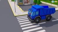 有趣的警车学颜色和数字  3D动画早教卡通