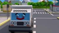 小跑车赛车学颜色和数字  3D动画早教卡通