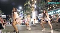 街拍韩国女子组合热舞视频