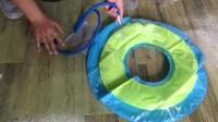【两个爸爸】游泳圈充气教学视频