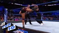 WWE2017【SD 0321】十大精彩瞬间 本期出现了三个妮