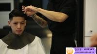 流行男生发型美式渐层油头修剪,马上帅一点