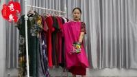 (本期已卖完)秀衣惠服饰-4.23号新款高档大码棉麻中国风刺绣连衣裙单款3件起批