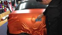 劳斯莱斯古斯特汽车隐形车衣后备箱盖施工教学-黑克汽车透明膜培训