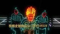54.高清荧光动感舞蹈街舞万花筒鬼步舞街舞机械舞演出背景led大屏幕背景视频夜店~1