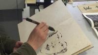 合肥师范学院艺术传媒学院副教授 顾玉红 水墨肖像写生视频之三