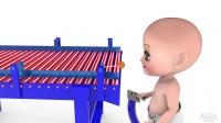 学习色彩对儿童初学走路的孩子3 d婴儿&棒棒糖着色机