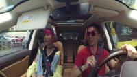 私约美女歌手试驾雷克萨斯RX450h 意想不到的事情发生了
