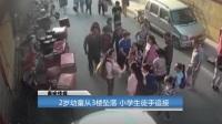 2岁幼童从3楼坠落 小学生徒手追接