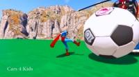 公交车上的彩色直升飞机和蜘蛛侠漫画,为孩子们和孩子们提供超级英雄!