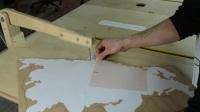 木制地图装饰