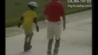 第三集初级轮滑教学视频滑行蹬地综合技术