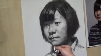 肖像素描入门-素描骷髅头像-小学五年级素描