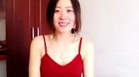 熊猫直播_杏花杏墙_20170516_长腿美女红色吊带裙秀美腿