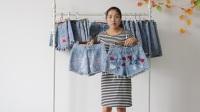 阿邦服装-时尚刺绣牛仔短裤短裙20件起批--509期