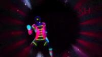 动感机械舞光影机器人舞动激光舞夜店演绎时尚舞蹈LED大屏幕背景视频素材