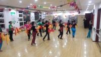 东城国际舞蹈队重新编排健身腰鼓爱我中华16人队形V70522-203955