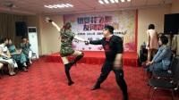 邯郸丛台闫老师及美女陈改青在冷餐红酒晚会表演。